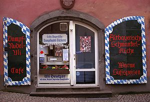 Bakery for Dampfnudeln in the Baumburger Turm ...