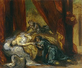 The Death of Desdemona by Eugène Ferdinand Victor Delacroix.