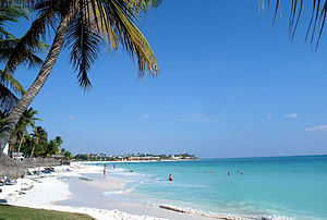 English: A view of Eagle Beach in Aruba.