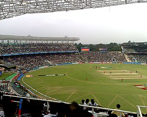 English: Eden Gardens cricket ground in Kolkat...