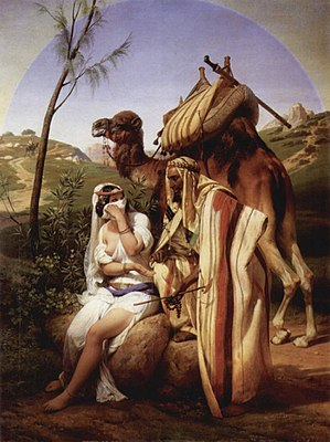 Judah and Tamar (1840 painting by Horace Vernet)
