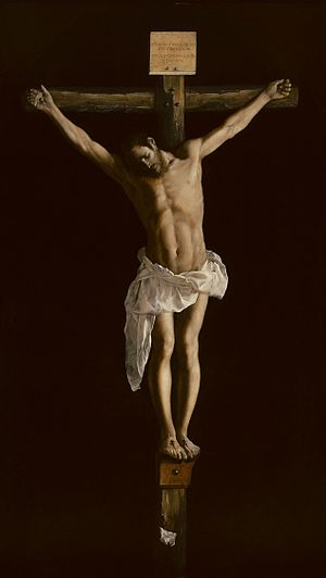 Francisco de Zurbarán - Christ on the Cross - ...