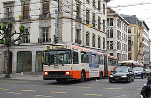 Geneva trolleybus 699 was built in 1988 by NAW...