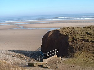 Hunmanby Gap Cliff Erosion. Cliff erosion at H...