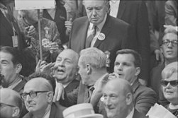 """Image result for 1971 –J. Edgar Hoover&John Mitchellannounce the arrest of 20 of theCamden 28, a group of """"Catholic left"""""""