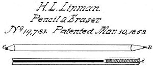 English: From US Patent 19783 Combination of L...