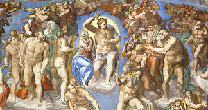 Detail from The Last Judgement by Michelangelo