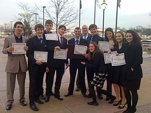 English: Members of the Benet Academy Law Club...