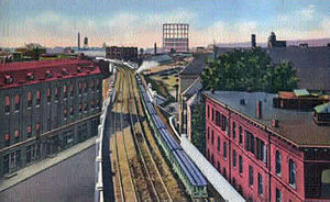 English: New York Central Railroad elevated ra...