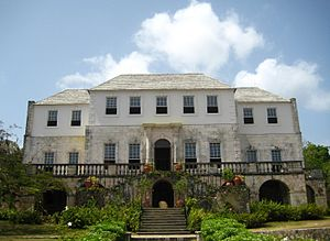 Rose Hall, the estate house of a former sugar ...