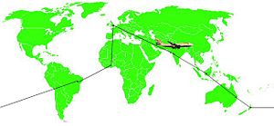An example of travelling the world using a RTW...