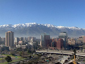 Photo from the modern Santiago de Chile with t...