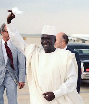 English: President Ahmed Sekou Toure of the Re...
