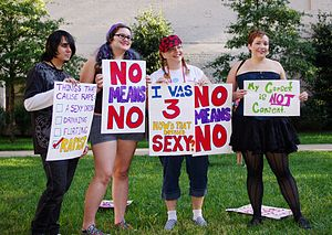 English: Marchers with Slutwalk Knoxville disp...