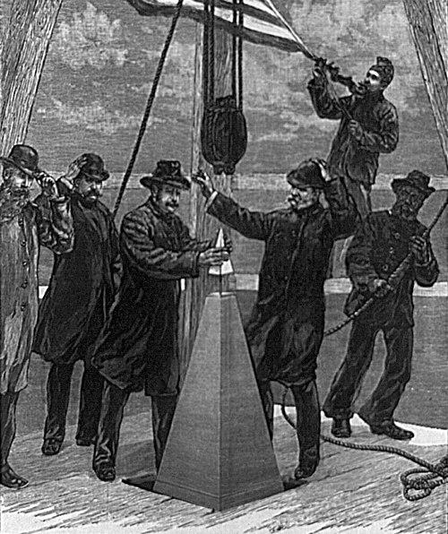File:Washington Monument-setting the capstone.jpg
