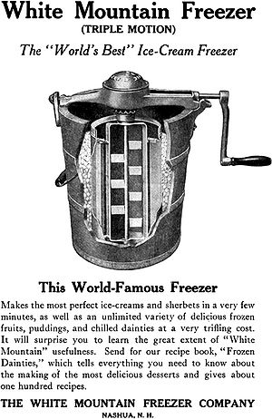 English: White Mountain Freezer (Triple Motion...