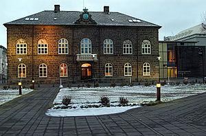 Parliament Building in Reykjavík, Iceland