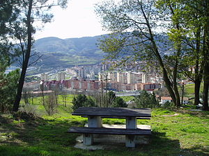 View of Otxarkoaga district (Bilbao) from a pi...