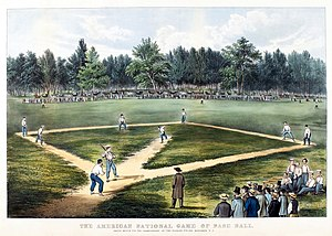 Early baseball game played at Elysian Fields i...