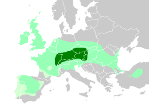 English: Maximum Celtic expansion in Europe. B...