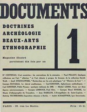 Cover of Surrealist journal Documents No 1, 1929