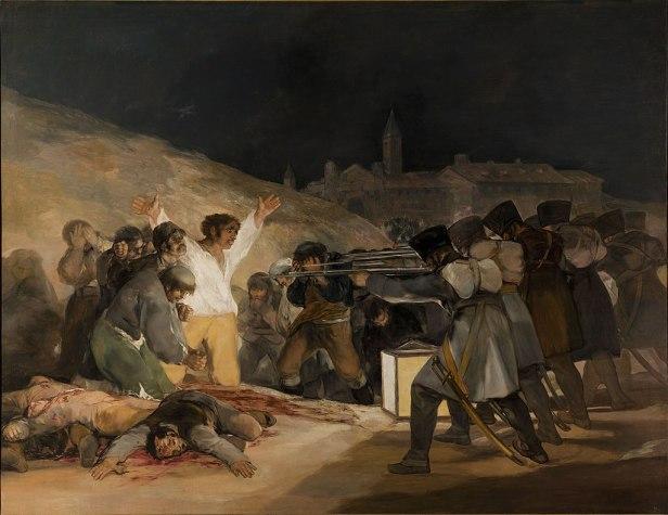 El Tres de Mayo, by Francisco de Goya, from Prado thin black margin