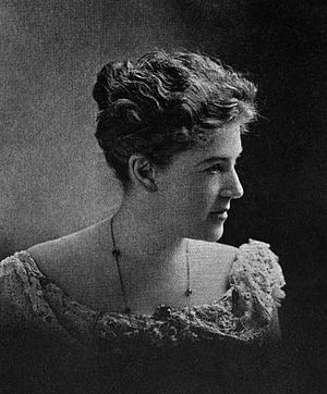 Photograph of American writer Ella Wheeler Wil...