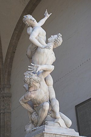 The Rape of the Sabine Women by Giambologna, i...