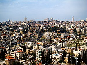 English: A view of Sheikh Jarrah neighborhood....