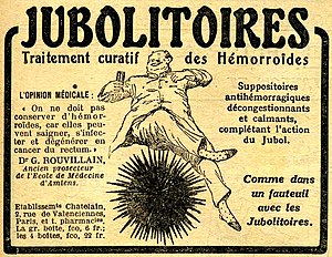 English: 1918 advertisement for Jubolitoires (...