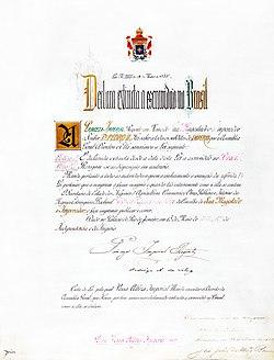 A carta original da Lei Áurea