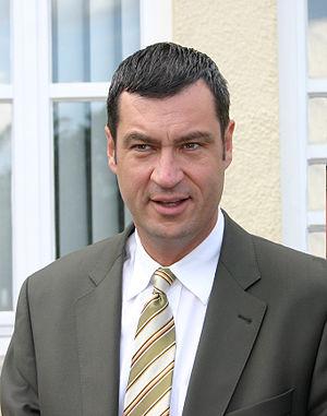 Markus Söder bei einem Festakt in Schrobenhausen