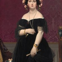 """Madame Moitessier"" by Jean-Auguste-Dominique Ingres (National Gallery of Art, Washington, D.C.)"