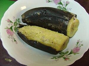 Español: Plátano hervido.