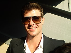 Robin Thicke at the DNC convention on August 2...
