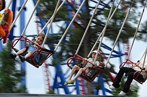 English: Kiddie swinger ride at Six Flags Over...