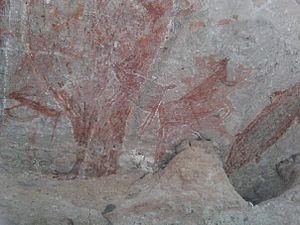 Español: Pinturas rupestres en Baja California...