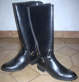 English: Boots of the Italian winter footwear ...