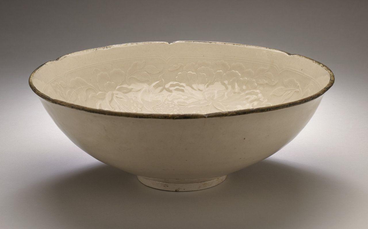 File Bowl Wan With Peony Chrysanthemum And Prunus