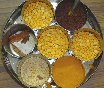 Common Indian household spices in a bowl