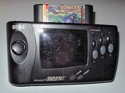 A Sega Genesis Nomad with a Sonic the Hedgehog...