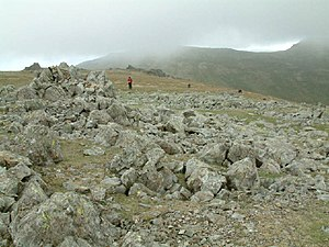 Grey Friar. The summit area of Grey Friar, loo...