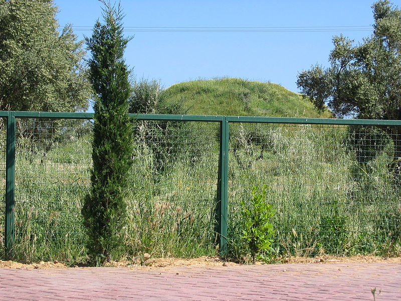 File:Hill where the Athenians were buried after the Battle of Marathon.jpg