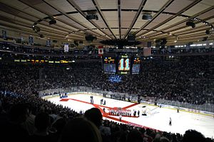 Madison Square Garden before NY Ranger game on...