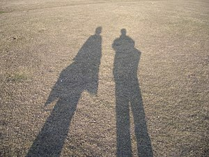 Shadow of two persons.
