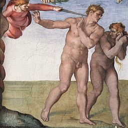 Michelangelo, Fall and Expulsion from Garden of Eden