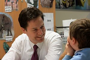 English: Nick Clegg, Leader of the Liberal Dem...