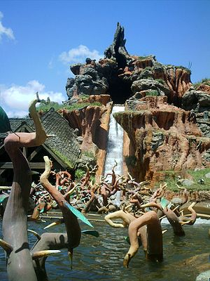 English: View of WDW Splash Mountain main drop.