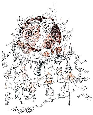 Illustration from book The Goblins' Christmas ...