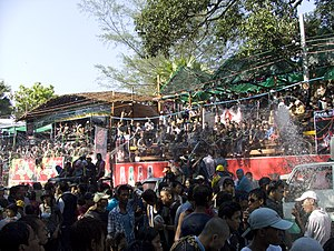 Thingyan celebration in Yangon